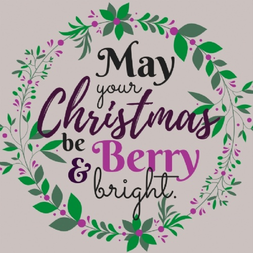 May your Christmas be Berry & bright.