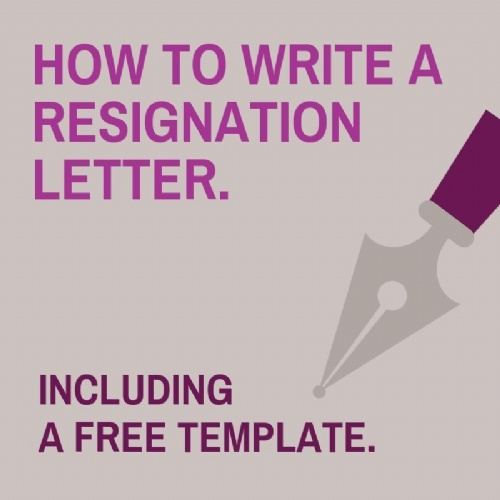 How to write a resignation letter.