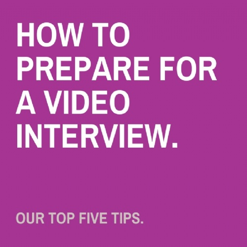 How to prepare for a video interview.